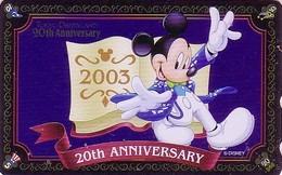 Télécarte Brillante NEUVE Japon / MF-1001666 - DISNEY DISNEYLAND - MICKEY * GRAND OPENING 2003 * - Japan MINT Phonecard - Disney