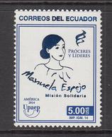 2014 Ecuador Latin Female Leaders Complete Set Of 1 MNH - Ecuador