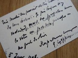 François COPPEE Cdv - Autographes
