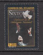 2015 Ecuador SIXTO National Peace Maker Complete Set Of 1 MNH - Ecuador