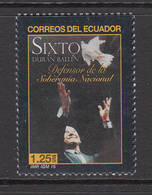 2015 Ecuador SIXTO National Peace Maker Complete Set Of 1 MNH - Equateur