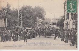 LANDES - MONT DE MARSAN - Fêtes Présidentielles Octobre 1913 - Cortège Arrivant Place Du Commerce - Mont De Marsan