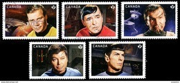 Canada (Scott No.2917-21 - Star Trek) (o) - 1952-.... Règne D'Elizabeth II
