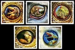 Canada (Scott No.2924-28 - Dinosaures) (o) Set - 1952-.... Règne D'Elizabeth II