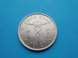 BELGIQUE   1 Franc  1929 - 1909-1934: Albert I