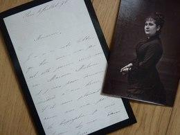 Adèle ISAAC LELONG (1854-1915) Cantatrice SOPRANO. Opéra & Opera Comique Paris. AUTOGRAPHE - Autógrafos