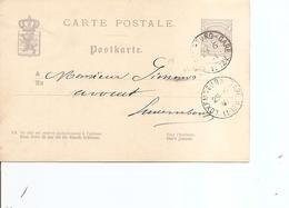 Luxembourg ( EP De 1881 De Luxembourg-Gare  Vers L'intérieur à Voir) - 1859-1880 Wappen & Heraldik