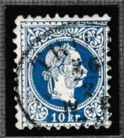 AUTRICHE 1867-80: Le 10 Kr. Bleu  (Y&T 36), Oblitération Ovale De Trieste - 1850-1918 Imperium