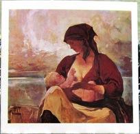 Mother Breastfeeding Baby Art USSR Russia Postcard - Women