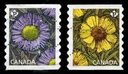 Canada (Scott No.2977-78 - DAISIES) (o) Coil - 1952-.... Règne D'Elizabeth II