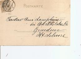 Suisse ( EP De 1900 De Grenchen Vers L'intérieur à Voir) - 1882-1906 Coat Of Arms, Standing Helvetia & UPU