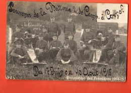 VAJ-09 UNIQUE Cornol, District Porrentruy. Souvenir Batterie Campagne 1915,Militaires,.Signature Au Dos Des Sommeillères - JU Jura
