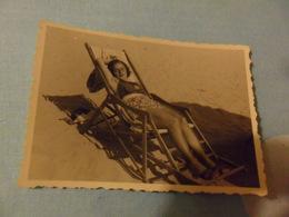 Foto Piccola 1938 RAGAZZA IN COSTUME SU SDRAIO - Pin-ups