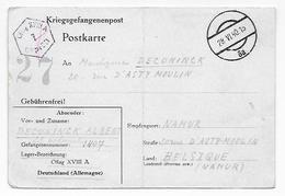 Correspondance Prisonnier Oflag XVIII Guerre 40-45 Officier Armée Belge Lieutenant Colonel A. Deconinck (Général Tournai - Old Paper