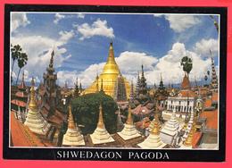 CPM- MYANMAR -BIRMANIE - RANGOON - Shwedagon Pagoda  SUP ** 2 SCANS - Myanmar (Burma)