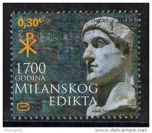 Montenegro 2013, 1700 Years Of Christianity, EDICT OF MILAN, MNH - Montenegro