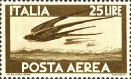 1945 - Serie Democratica Posta Aerea Lire 25 Bruno - Nuovo Gomma Integra - Airmail