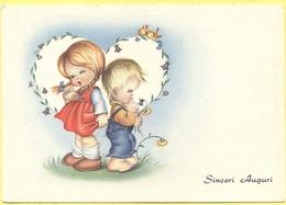 Tematica - Disegni Infantili - Bambino E Bambina - Auguri - Not Used - Disegni Infantili