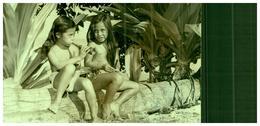 PAPEETE - Enfants Assis Sur Un Tronc D'arbre - Tahiti