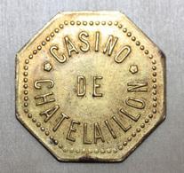 "Jeton Octogonal ""Casino De Chatelaillon"" - Casino Token Chips - Charente-Maritime - Casino"