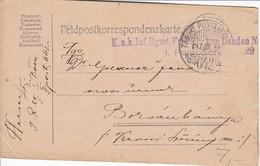 Feldpostkarte K.u.k. Inf. Rgmt. Freiherr Von Laudon Nr. 29 - 1. WK (38563) - 1850-1918 Imperium