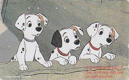Télécarte Japon / 110-164658 - DISNEY - Série Film 2/3 - 101 DALMATIENS - DALMATIANS Chien Dog Japan Movie Phonecard - Disney