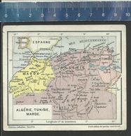 ALGÉRIE - TUNISIE - MAROC - CARTE ANCIENNE -  PETIT ATLAS DE POCHE UNIVERSEL ÉDITIONS JEHEBER GENÈVE - Geographical Maps