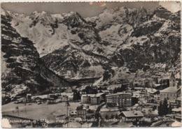 Courmayeur (Aosta): Panorama Invernale E Sfondo Ghiacciai Monte Bianco. Viaggiata 1961 - Autres Villes