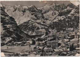 Courmayeur (Aosta): Panorama Invernale E Sfondo Ghiacciai Monte Bianco. Viaggiata 1961 - Italia