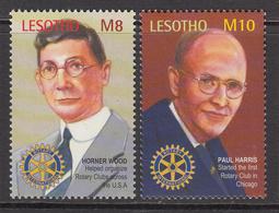 2002 Lesotho Rotary International Golden Gate Bridge Complete Set Of 2 + 2 Souvenir Sheets MNH - Lesotho (1966-...)