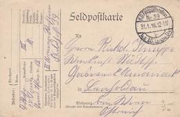 Feldpostkarte - 15. Landw. Div. Nach Leopoldau - 1916 (38566) - 1850-1918 Imperium