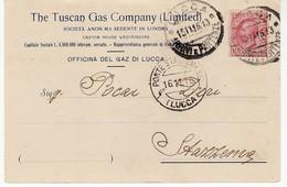 5107 LUCCA TUSCAN GAS COMPANY X STAZZEMA - Storia Postale