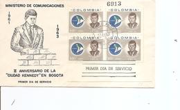 Kennedy ( FDC De Colombie De 1963 Avec Timbres En Bloc De 4 à Voir) - Kennedy (John F.)