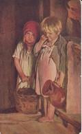 AK C. Lemoch - In Verlegenheit - Embarrassés - Kleine Kinder - Enfants - Russische Meister - 1915 (38567) - Malerei & Gemälde