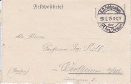 Feldpostbrief - 28. Res. Div. Nach Wertheim - 1915 (38568) - 1850-1918 Imperium