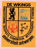 Sticker - DE WIKINGS - Universiteit Antwerpen - Fakulteitskring Toegepaste Economische Wetenschappen - ST-IGNATIUS - Autocollants
