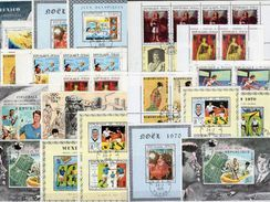 Topic Set 15 Blocks Tchad Block Out 1970-1984 O 100€ Hoja Olympic M/s Art S/s Space Blocs Soccer Sheetlet Bf Africa - Chad (1960-...)