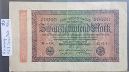 EBN1 - Germany 1923 Banknote 20000 Mark Pick 85a #K-DK 423148 - 20000 Mark