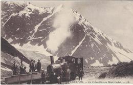74 SAINT GERVAIS LE FAYET TRAMWAY DU MONT BLANC TRAIN D OUVRIER A LA STATION DU MONT LACHAT  ED LEVY - Saint-Gervais-les-Bains