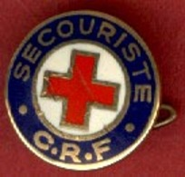 ** BROCHE  CROIX  ROUGE ** - Brooches