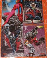 UOMO RAGNO VENOM SCARLET DEATHLOK MORBIUS 4 CARDS - Marvel