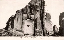 NIEUPORT-NIEUWPOORT - Ruines De L'Eglise - Edition Liévin Soeurs, Bourg-Léopold - Nieuwpoort