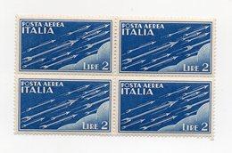 Italia - 1930 - Posta Aerea - Quartina Da Lire 2 - Nuova - (FDC13727) - 1900-44 Vittorio Emanuele III