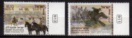 2013 Israel -Beersheba  Horses - Joint Issue With Australia - 2 V - Paper - MNH** MiNr. 2342 - 2343 - Gemeinschaftsausgaben