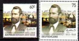 2013 200 Years L. Leichhardt 200 Years - Joint Germany And Australia - Both Countries - MNH** Horses - Gemeinschaftsausgaben