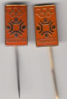 2 Diff. Pins Pin Badge Anstecknadel  Winter Olympic Games Sarajevo 1984 84 Bosnia Yugoslavia Olympics Olympia - Olympic Games