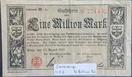 EBN1 - Germany 1923 Banknote 1 Million Mark - [ 3] 1918-1933: Weimarrepubliek