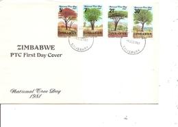 Zimbabwe - Arbres ( FDC De 1981 à Voir) - Zimbabwe (1980-...)