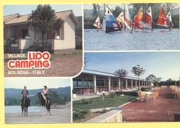 ITALIA - ITALY - ITALIE - 19?? - Castello Di Rovereto - Bolsena - Village Lido Camping - Multiviews - Viaggiata Da Bolse - Viterbo