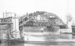 Mise En Place De L'armature Métallique Du Pont De PERSAN BEAUMONT 1926 - Old Paper